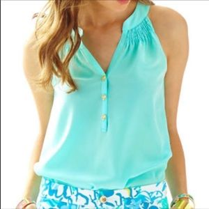 NEW Lilly Pulitzer Bailey Silk Top Size Large